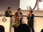 Cordelia Krooß, LIDA Award Gewinnerin 2012, zusammen mit Kurt De Ruwe, dem Preisträger 2013, und dem niedersächsischen Wirtschaftsminister Olaf Lies.
