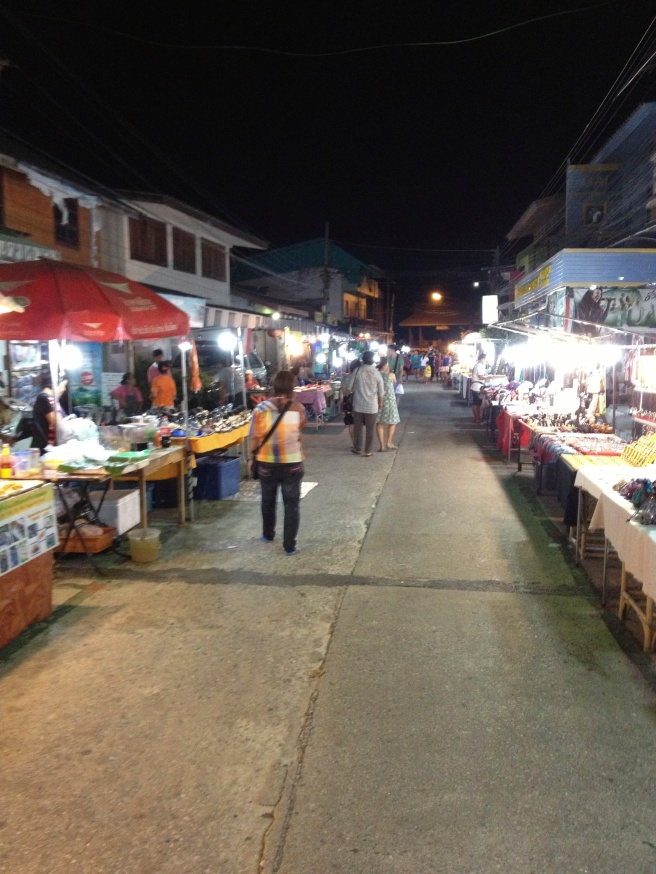 Walking Street in Mae Nam