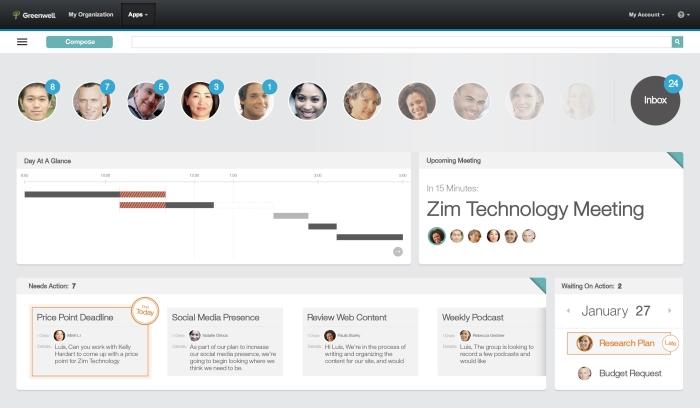 Hier ein Designentwurf der radikal anderen Oberfläche von IBM Mail Next. Dinge werden sich noch ändern, aber ein sehr guter erster Eindruck.