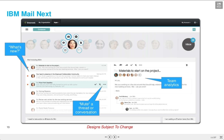 IBM Mail Next - Nicht wichtige Mail-Konversationen 'ruhig stellen'