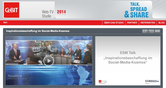 CeBIT Mottelstandsstudio 2014 zu Social Media