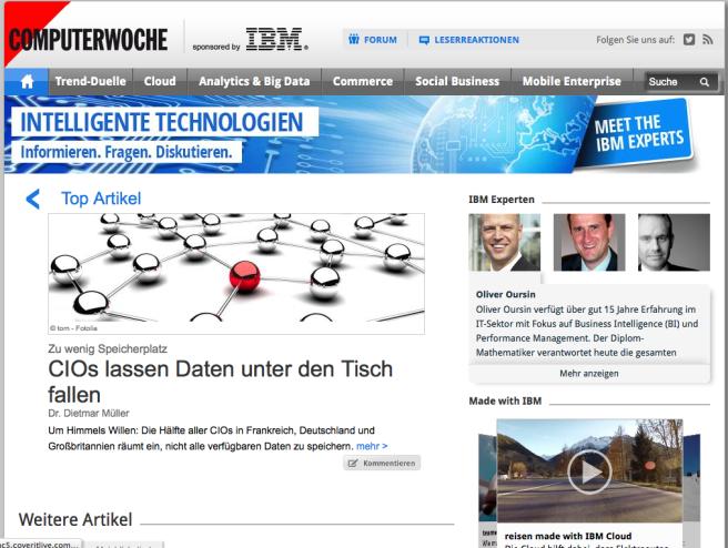 IBM Experts on Computerwoche.de