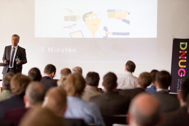 """IBM Collaboration """"Chef"""" Deutschland Thomas Zeizel eröffnet mit die 42. DNUG Konferenz in Dortmund."""