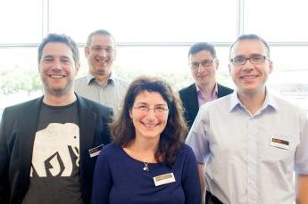 Der neue DNUG-Vorstand von links; Daniel Röchelt, Jörg Rafflenbeul, Birgit Krüger, Stefan Gebhardt und Dr. Erik Wüstner.