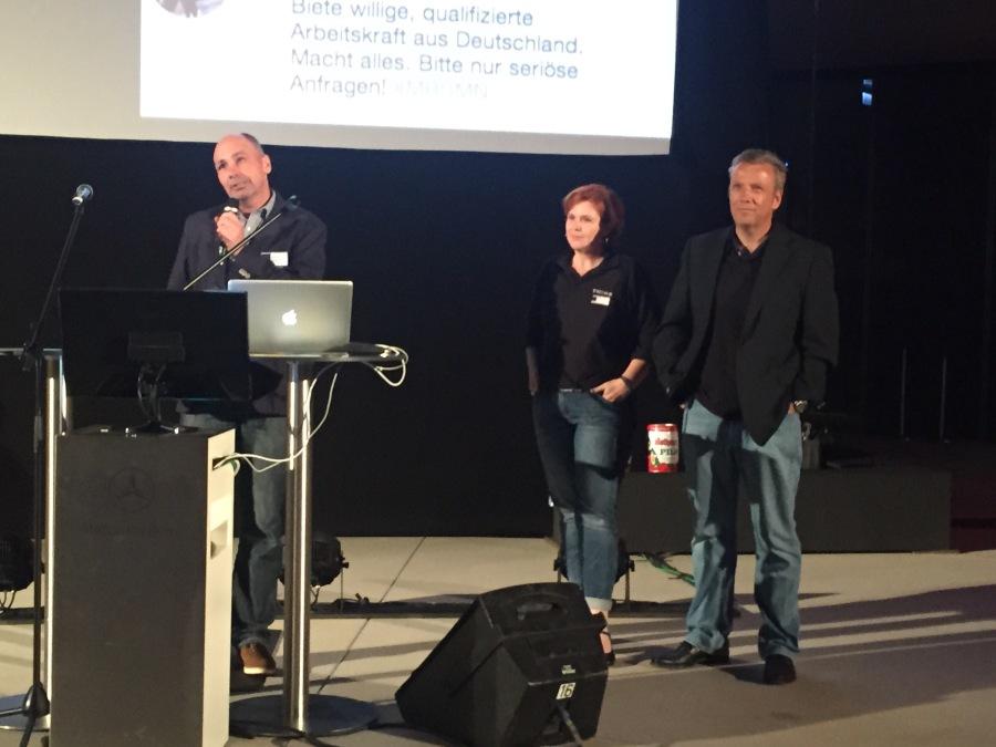 Der neue Social Business Club wird angekündigt durch Markus Besch, Bans Koch und Tom Zeizel