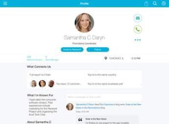 Profilbildschirm in IBM Connections auf dem iPad