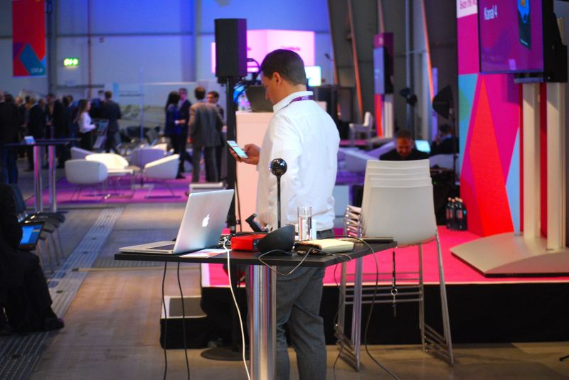 Mobile Livestreaming-Studio auf der IBM BusinessConnect in Köln