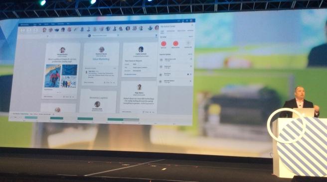 Die neue Home Page mit Action Center, die für IBM Verse und IBM Connections zur Verfügung stehen wird.