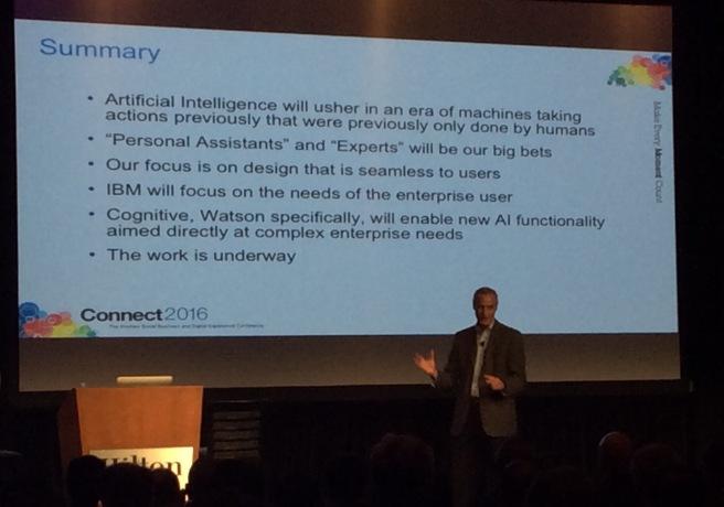 Die Zusammenfassung von Rob Koplowitz über Collaboration und unsere Pläne, kognitive Funktionen zu integrieren.